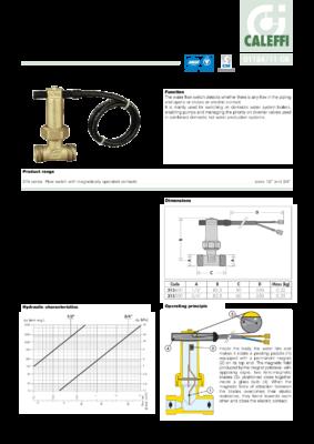 Caleffi-315-Series-Flow-Switch