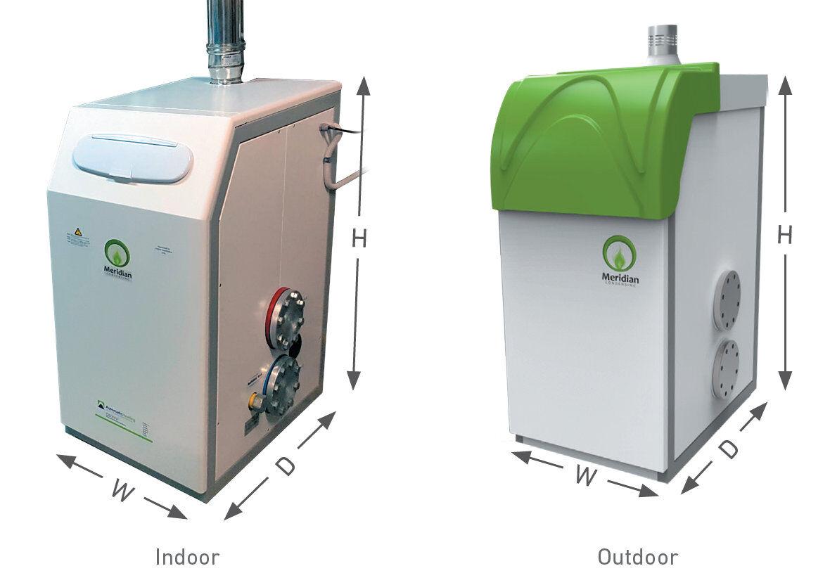 meridian floor-standing boiler dimensions