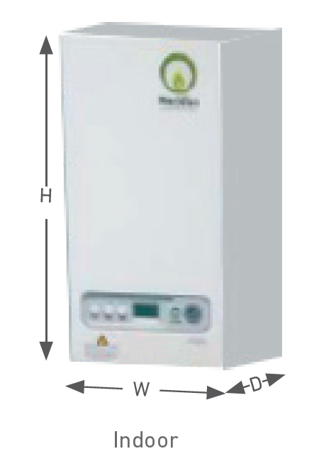 meridian wall mounted indoor boiler