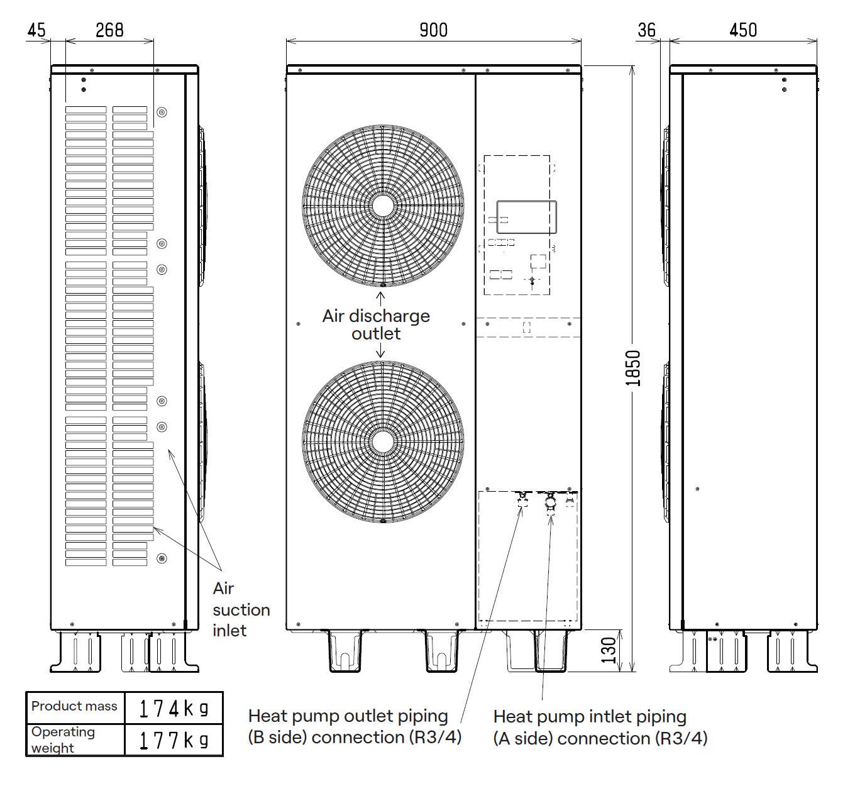 CHP-15F dimensions